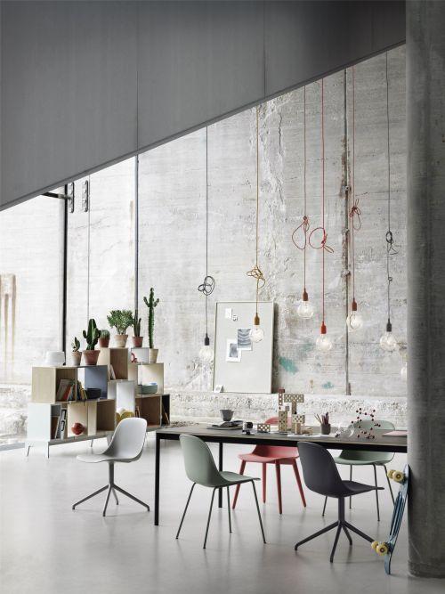 Muuto Fiber Side Chair Wood Base Grey/Grey