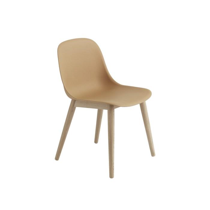 Muuto Fiber Side Chair Wood Base Ochre/Oak