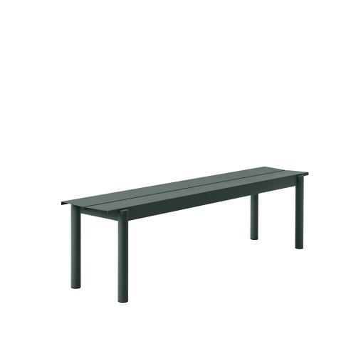 Muuto Linear Steel Bench 170 Dark Green