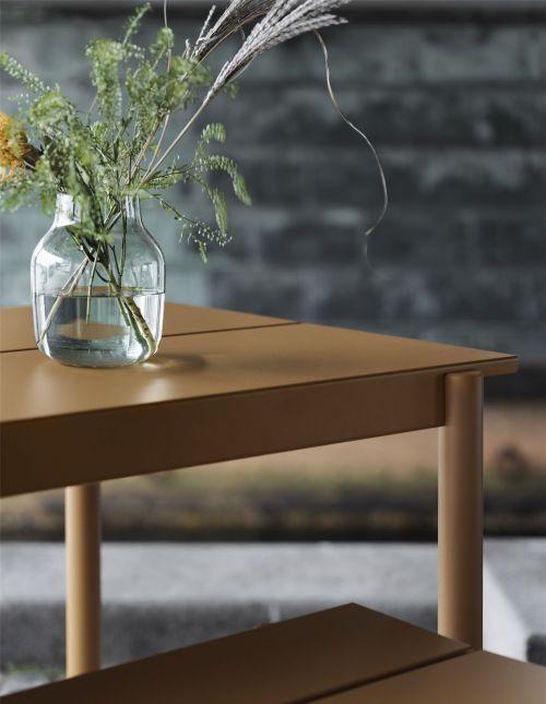 Muuto Linear Steel Table 200 Dark Green