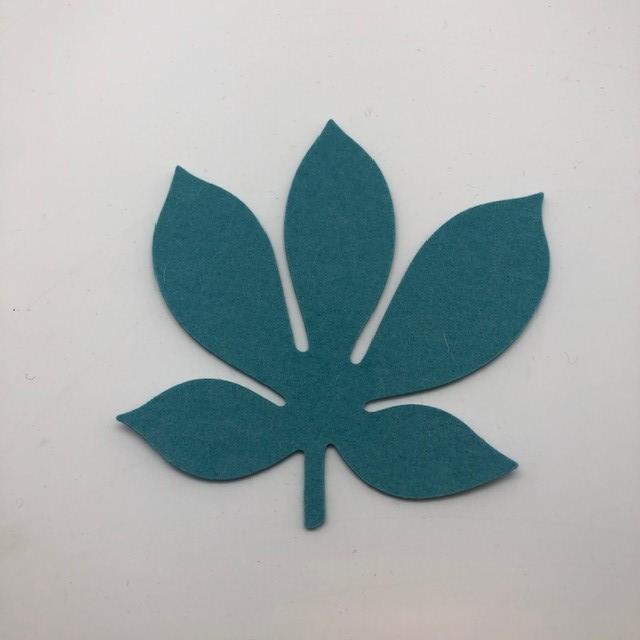 Onderzetter blad chestnut pastel turquoise 64