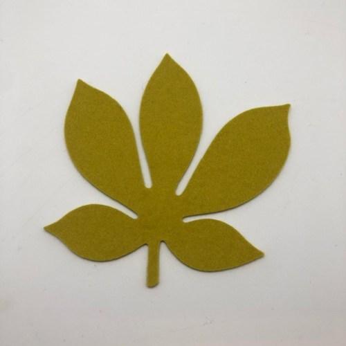 Onderzetter blad chestnut verde 25