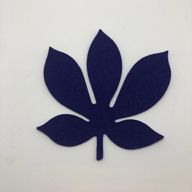 Onderzetter blad chestnut violet 13