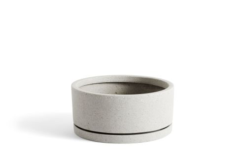 Plant Pot with Saucer XL Grey