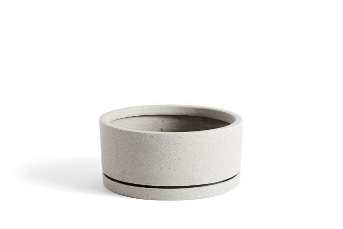 Plant Pot with Saucer XL Grey