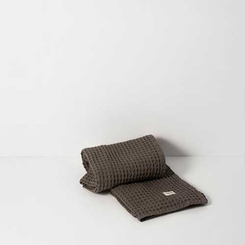 Organic hand towel dark grey