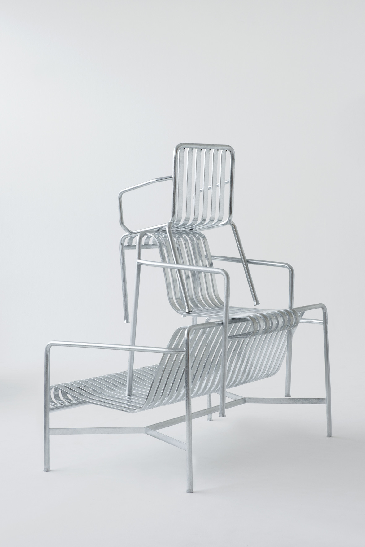 Hay Palissade Arm Chair Hot Galvanised