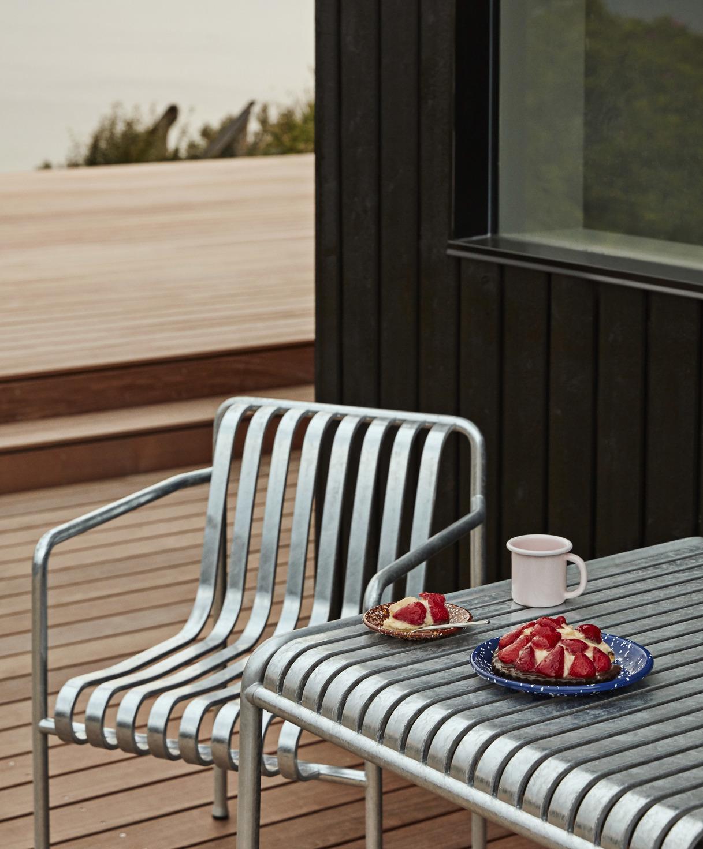 Hay Palissade Arm Chair Sky Grey