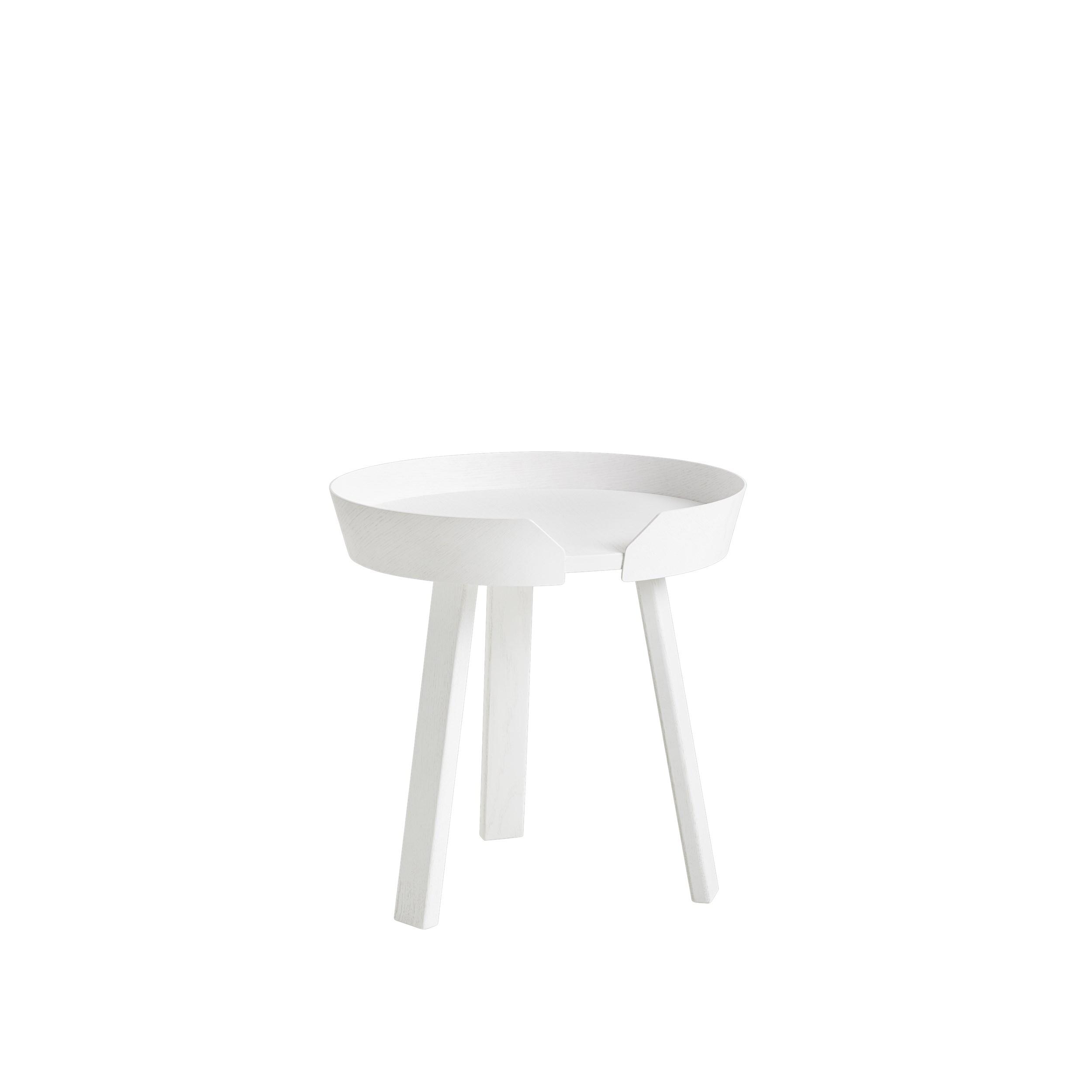 Around coffee table small white