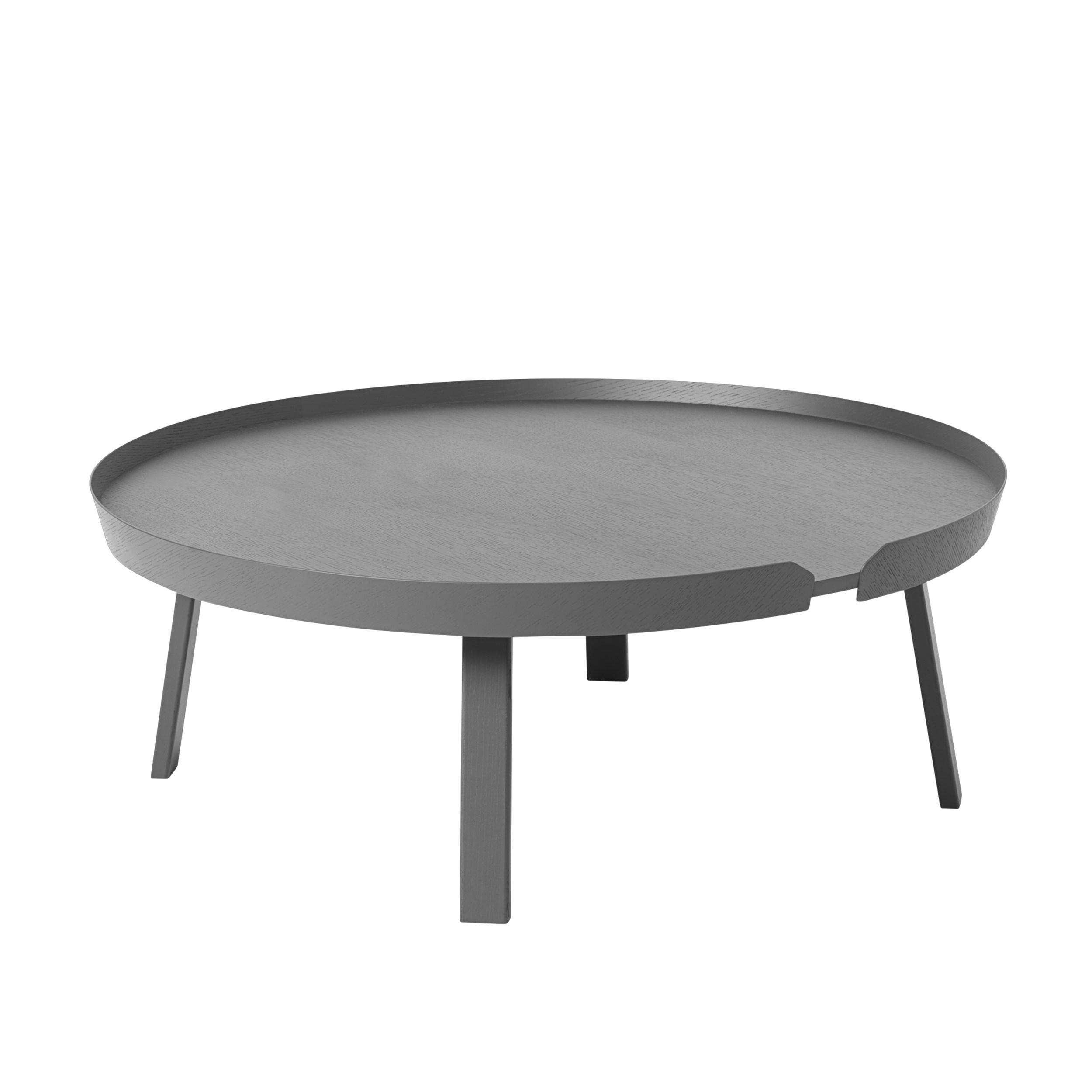 Around coffee table extra large dark grey