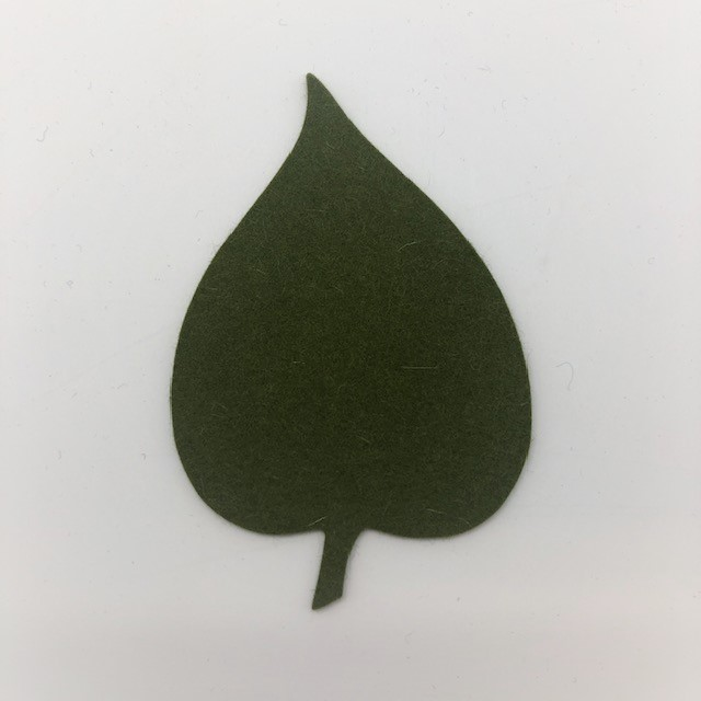 Onderzetter blad linden olive 24