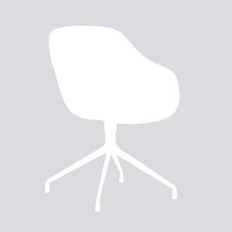 AAC121 Chair Alu base w. upholstery Remix