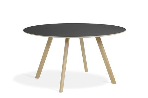 Hay CPH25 Table Round 140 Black Linoleum/Matt