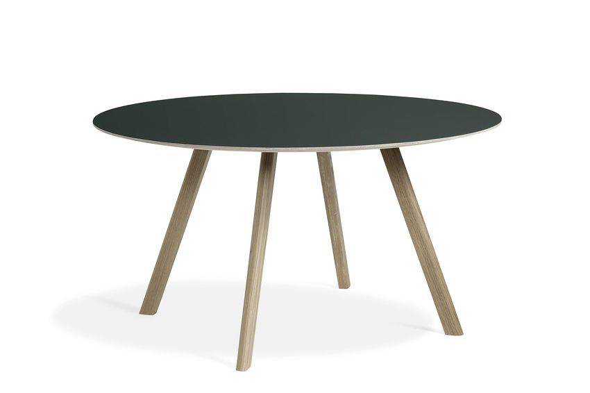 Hay CPH25 Table Round 140 Green Lino/Soaped