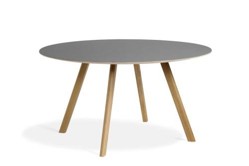 Hay CPH25 Table Round 140 Grey Linoleum/Clear