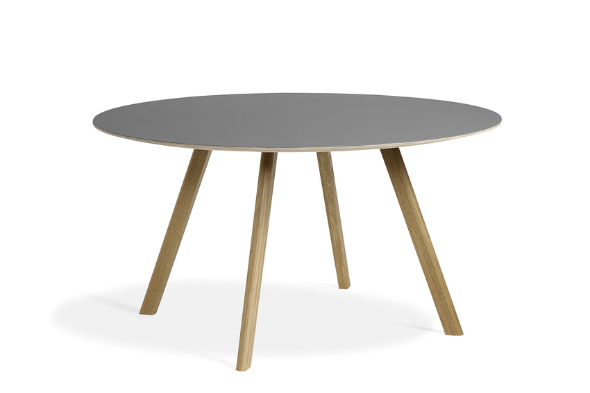 Hay CPH25 Table Round 140 Grey Linoleum/Clear