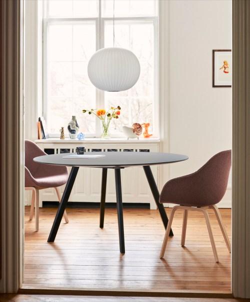 Hay CPH25 Table Round 140 Grey Linoleum/Matt