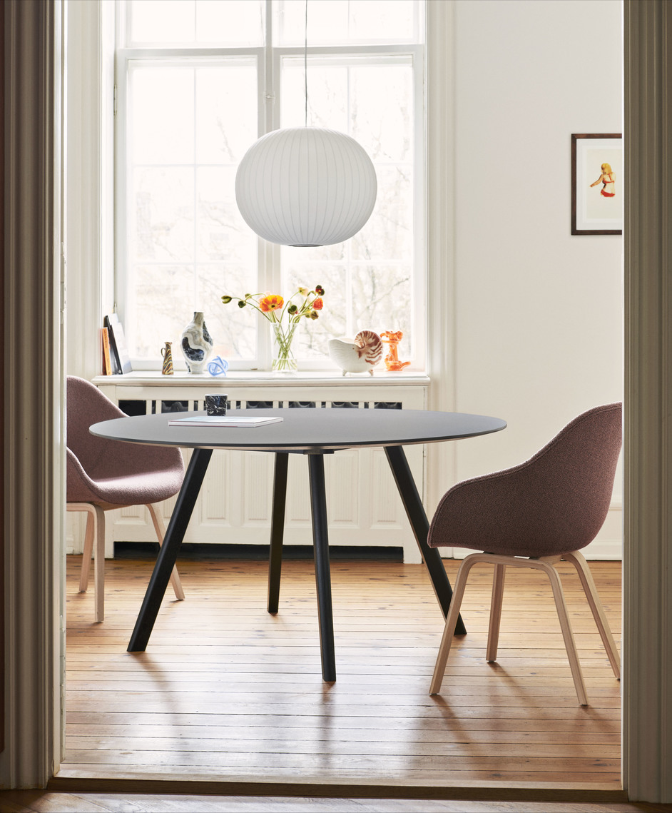Hay CPH25 Table Round 140 Grey Linoleum/Matt