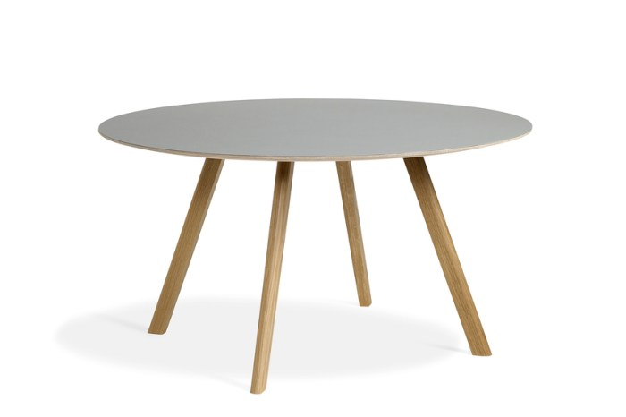 Hay CPH25 Table Round 140 Off-white Linoleum/Clear