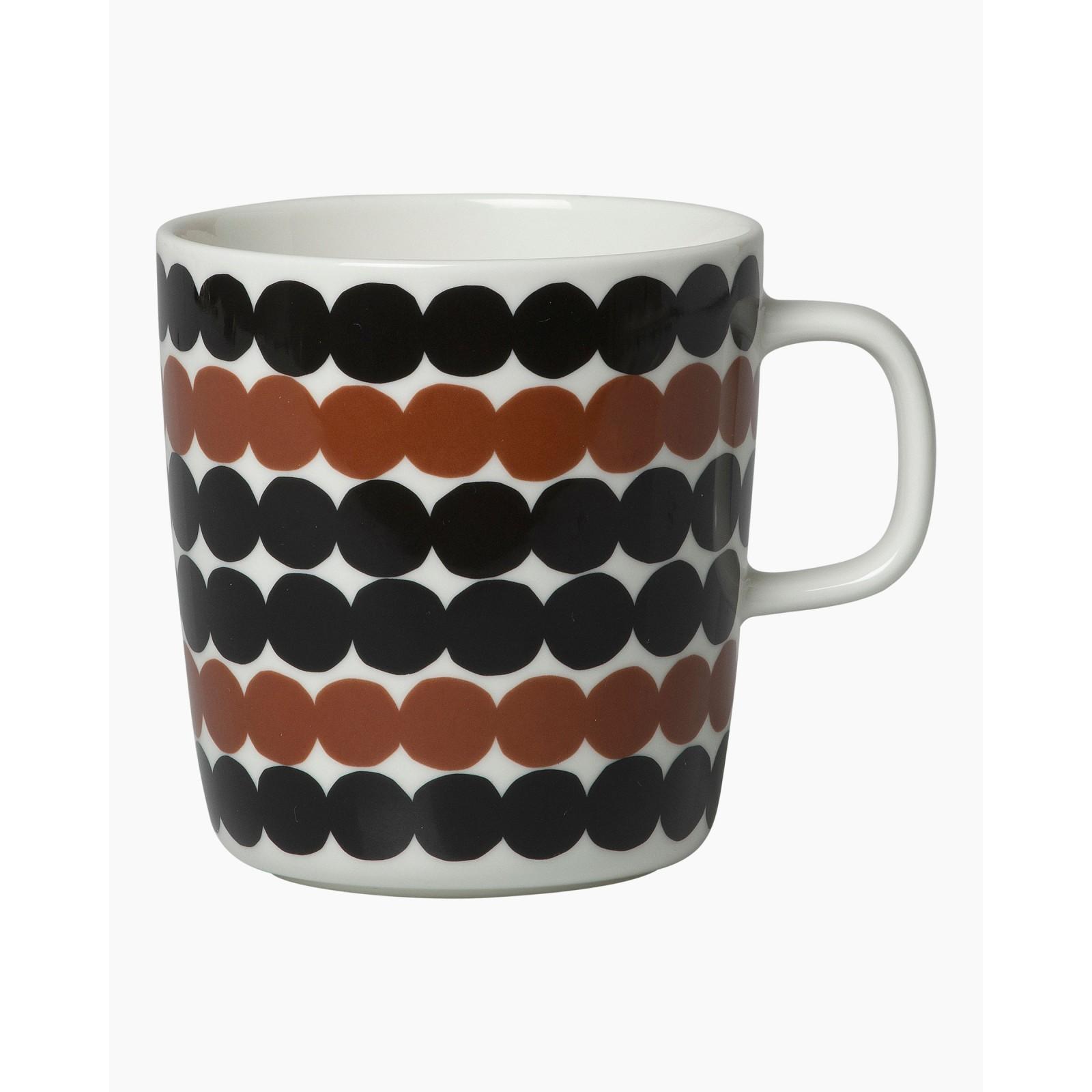 Marimekko Siirtolapuutarha Mug 2,5 dl Black/Brown