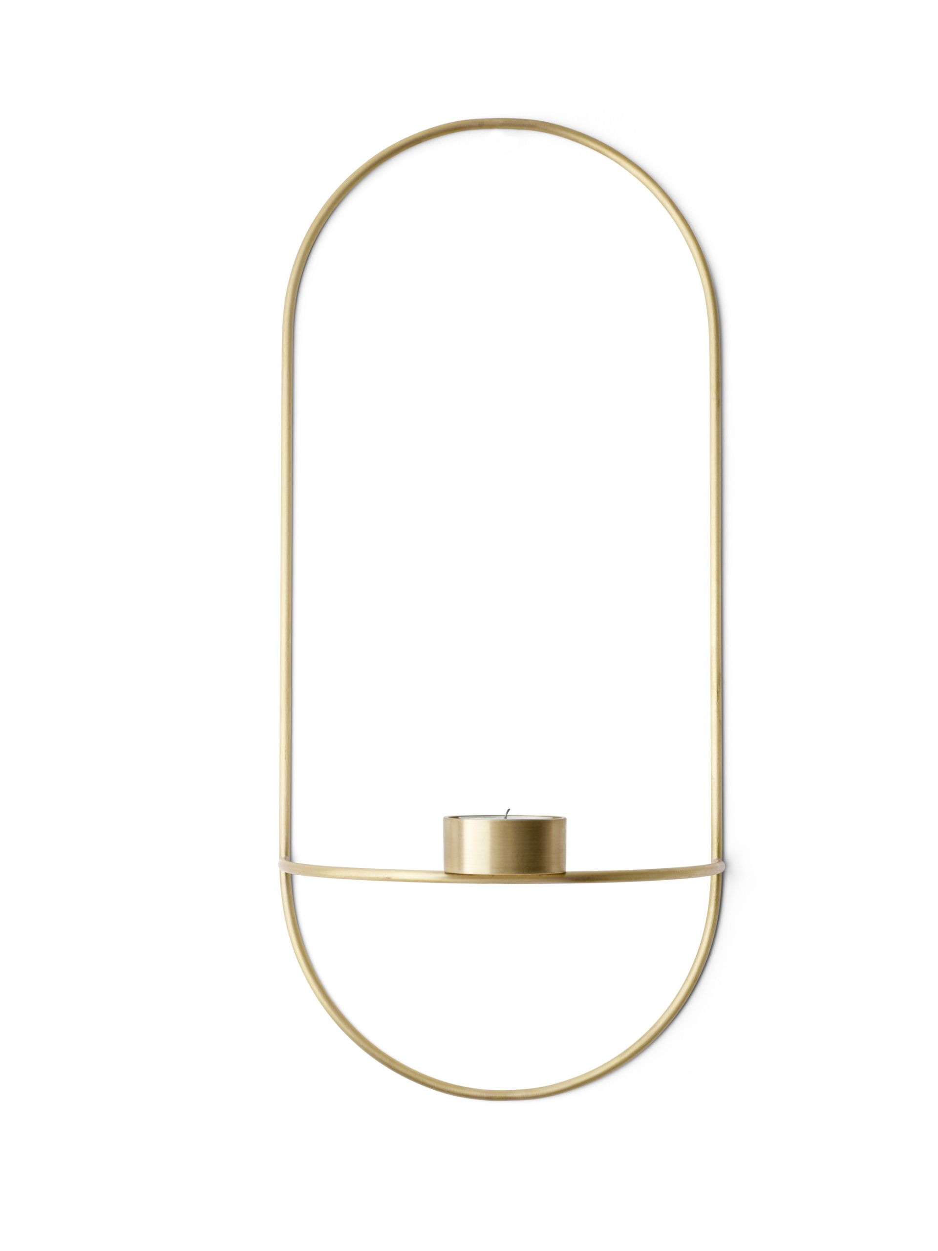 Menu POV Tealight Candleholder Brass