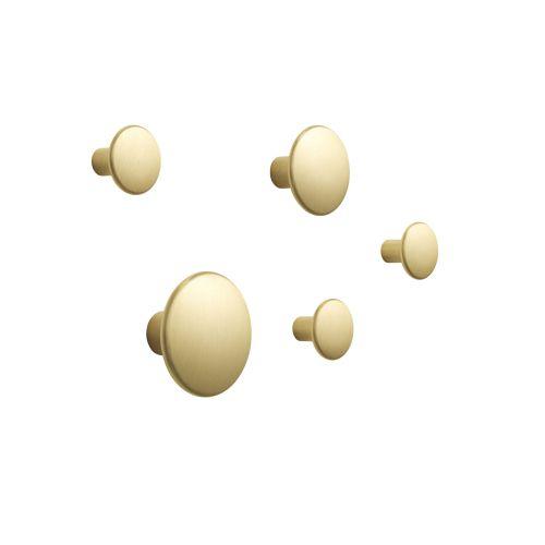 Dots metal set of 5 brass