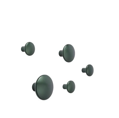 Dots metal set of 5 dark green