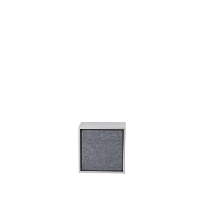 Stacked 2.0 acoustic panel medium grey