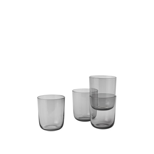 Corky glasses tall set of 4 grey