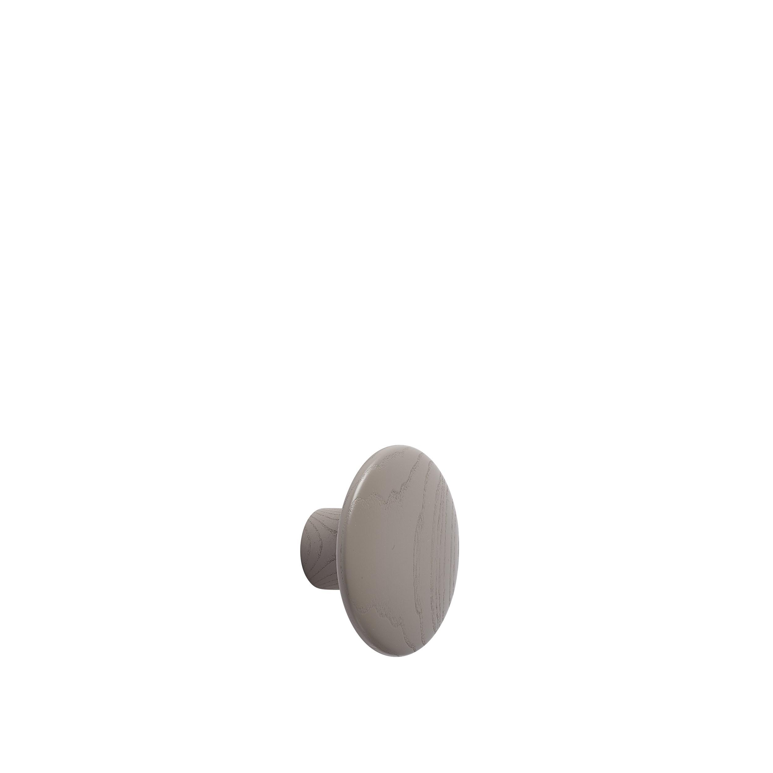 Dot wood small Ø 9 cm taupe