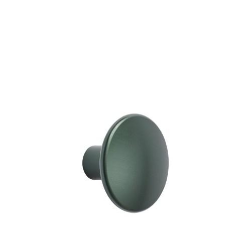 Dots metal large Ø 5 cm dark green