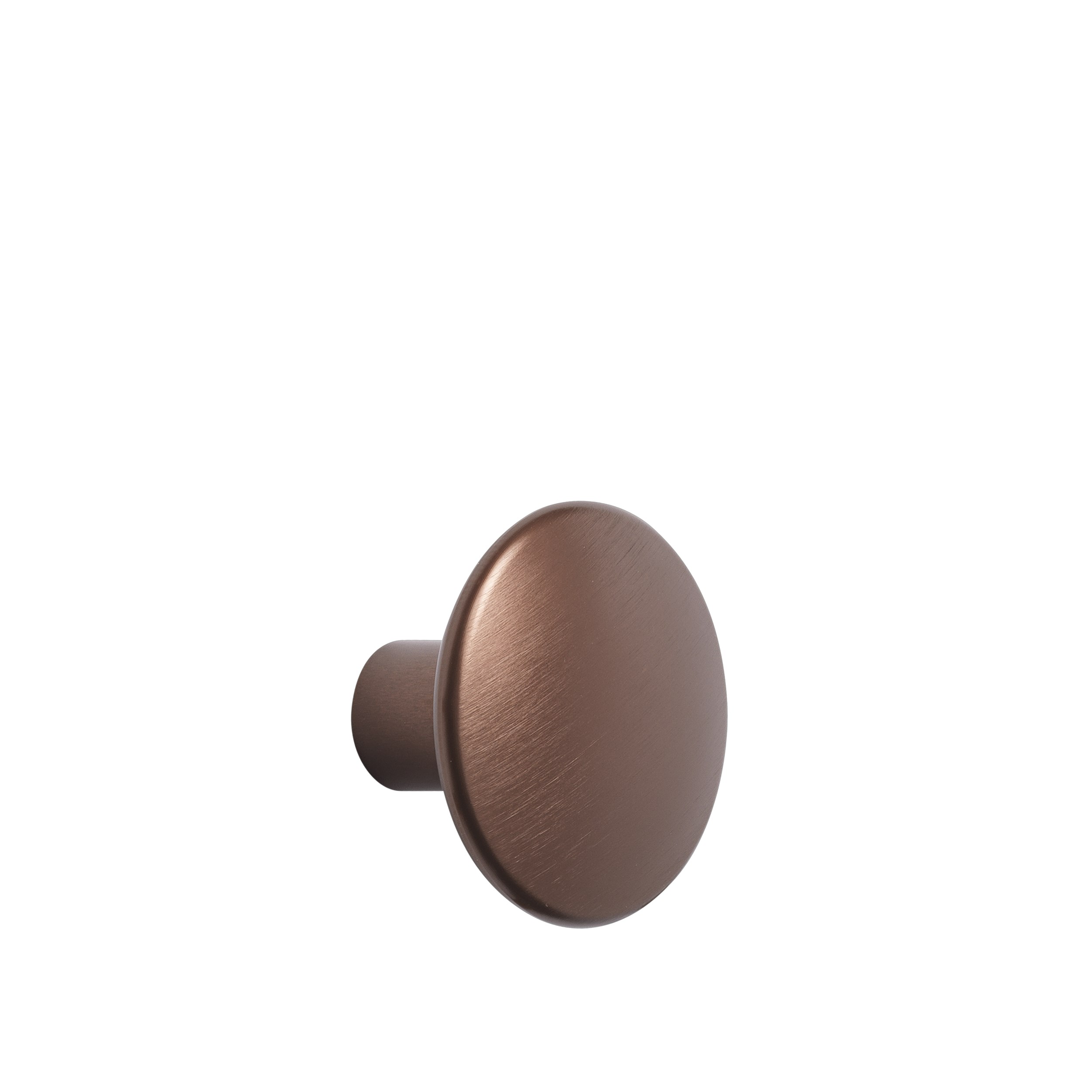 Dots metal large Ø 5 cm umber
