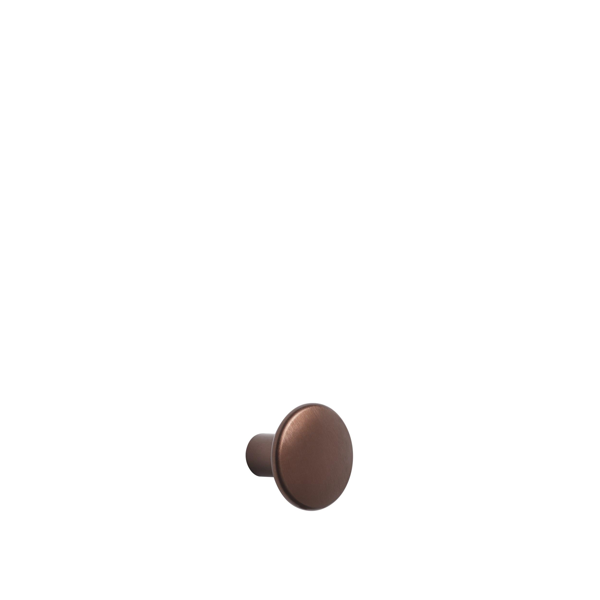Dots metal small Ø 2,7 cm umber