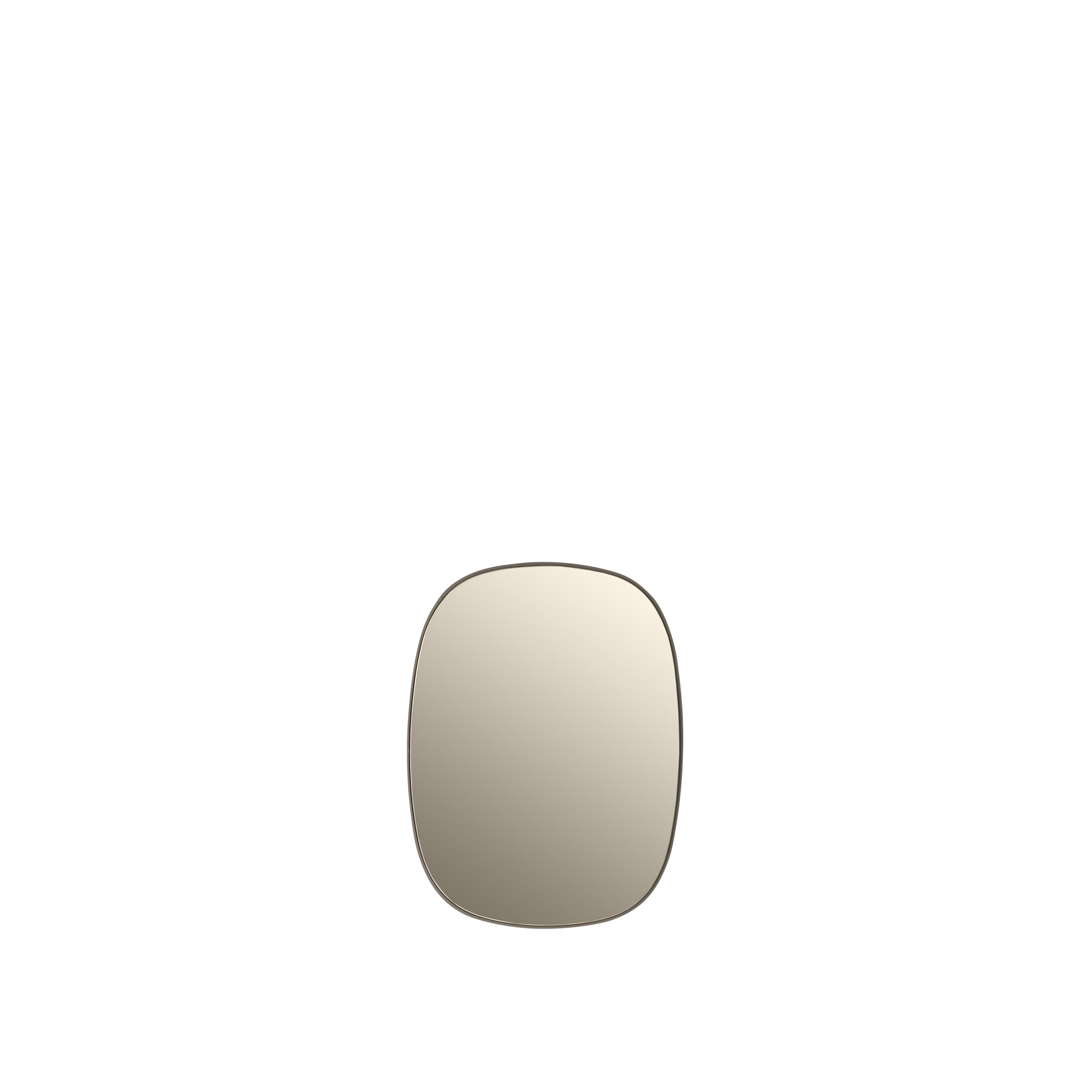Framed mirror small taupe