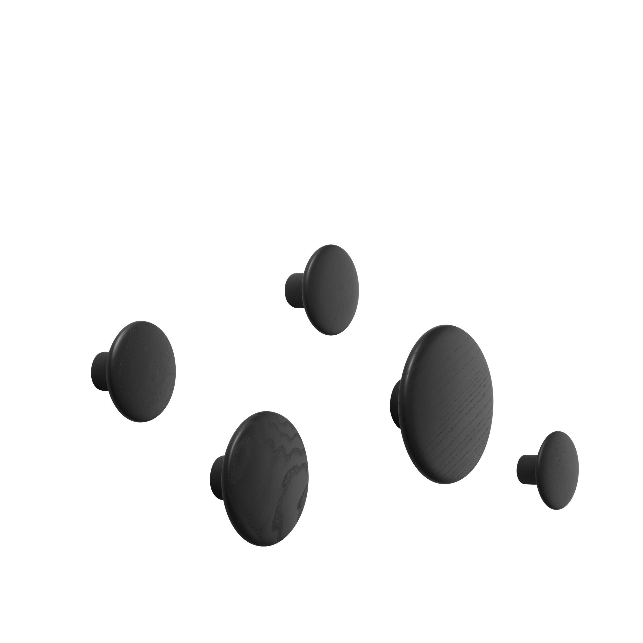 The dots set of 5 black