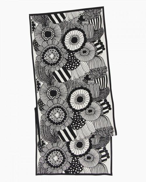Pieni Siirtolapuutarha runner 47x150 cm off-white/black