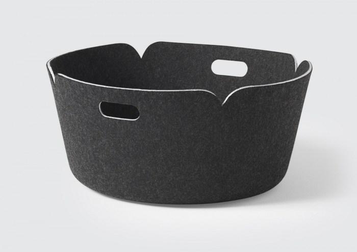 Restore basket round black melange
