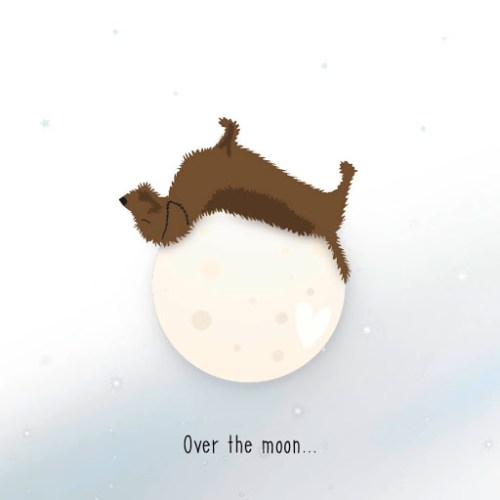 Gevouwen kaart Frits - Over the moon