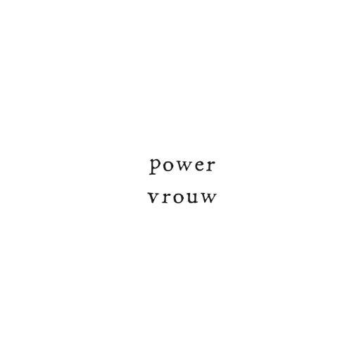 Gevouwen kaart - Power vrouw