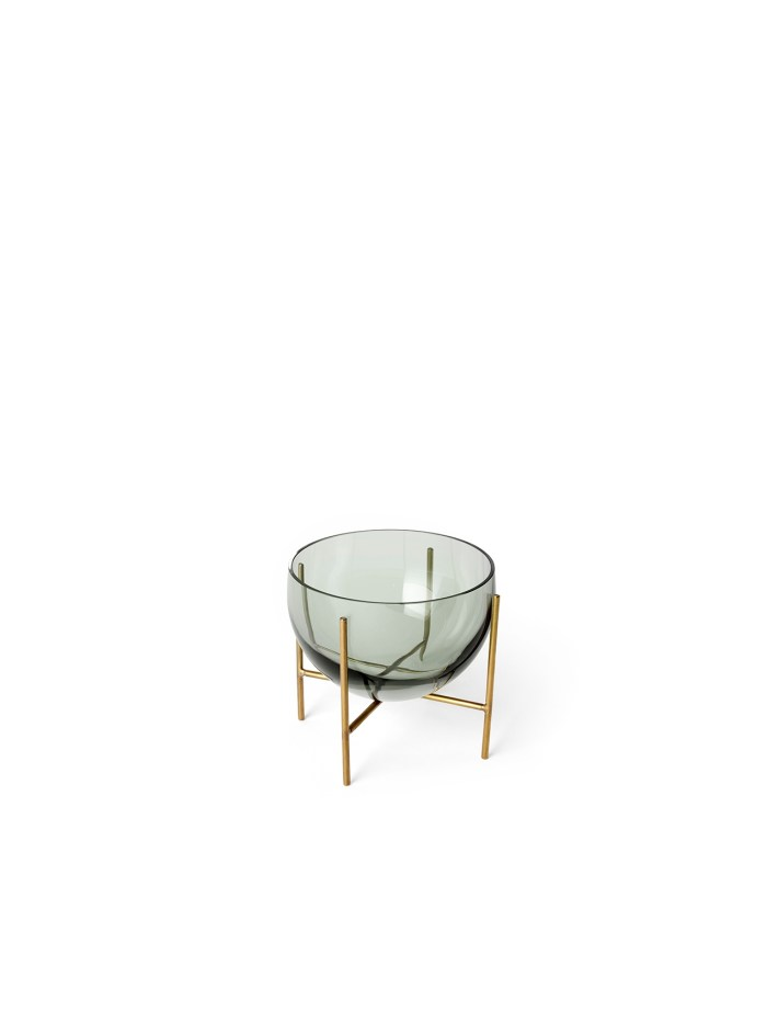 Menu Echasse Bowl S Smoke Glass/Brushed Brass