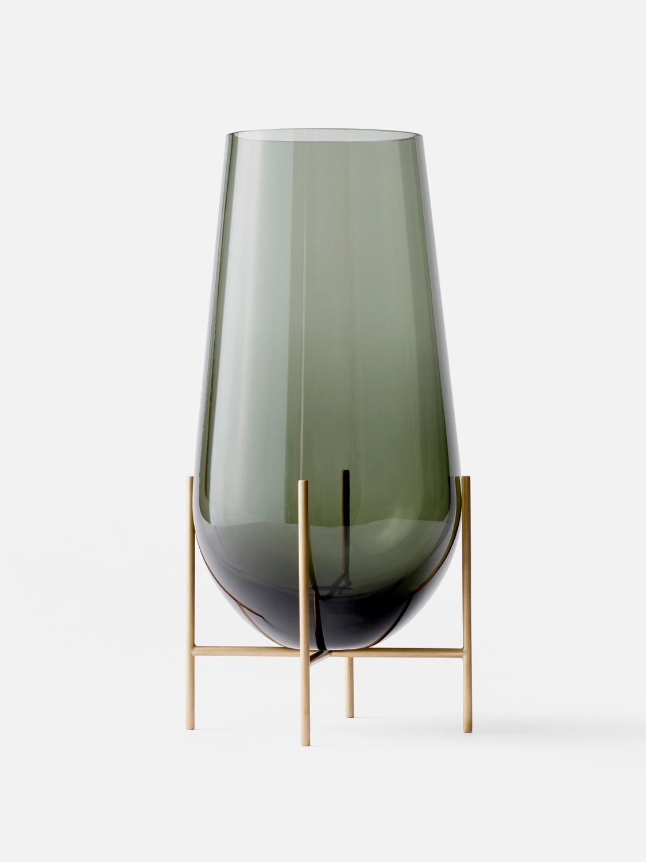 Menu Echasse Vase L Smoke Glass/Brushed Brass