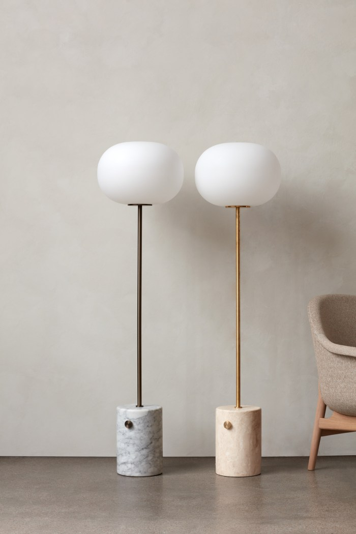 Menu JWDA Floor Lamp Travertine/Brushed Brass