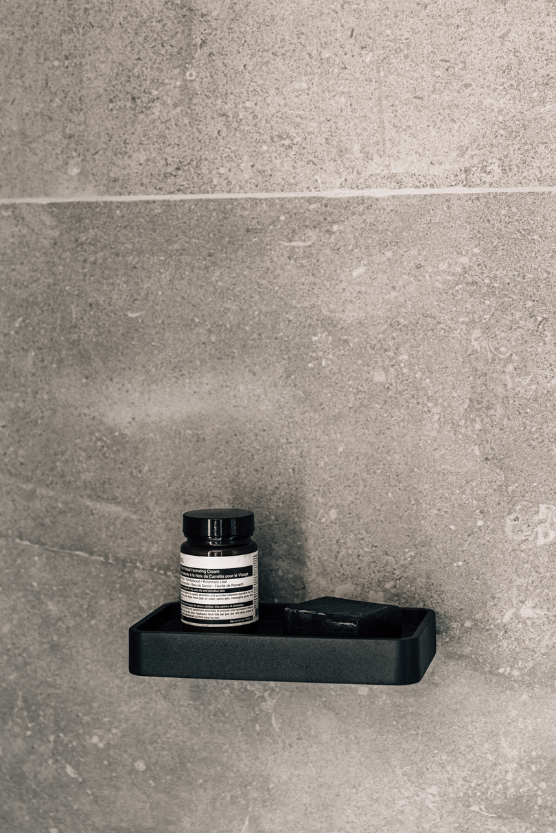 Menu Shower Tray Marble Black