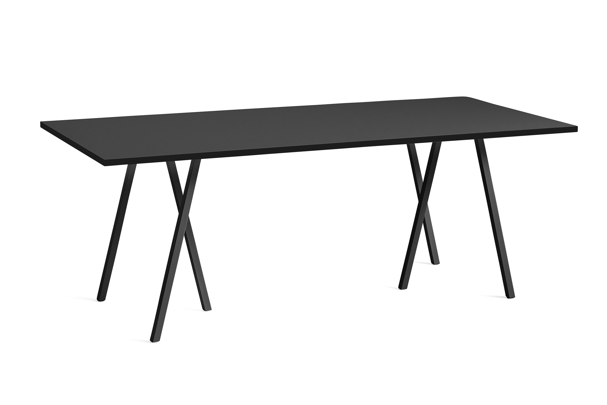 Loop stand table black 200 cm