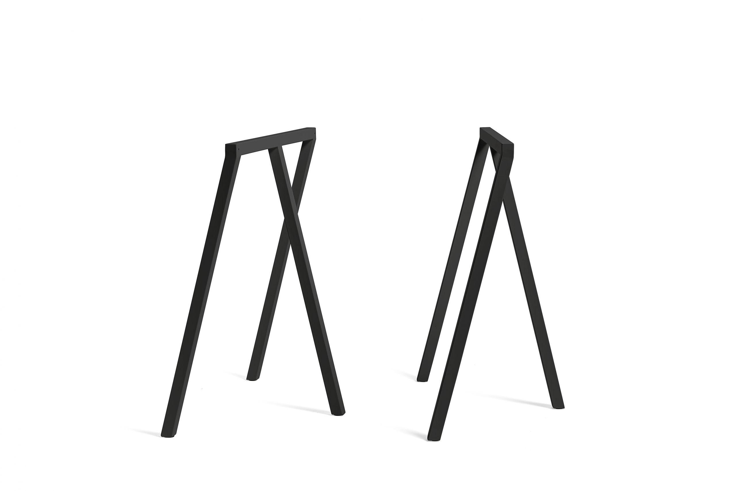 Loop stand table black linoleum 180 cm