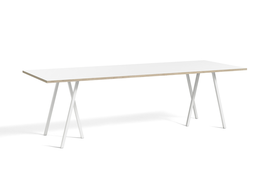 Loop stand table white laminate 250 cm