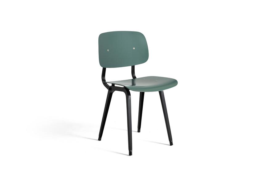 Hay Revolt Chair Black / Petrol Green