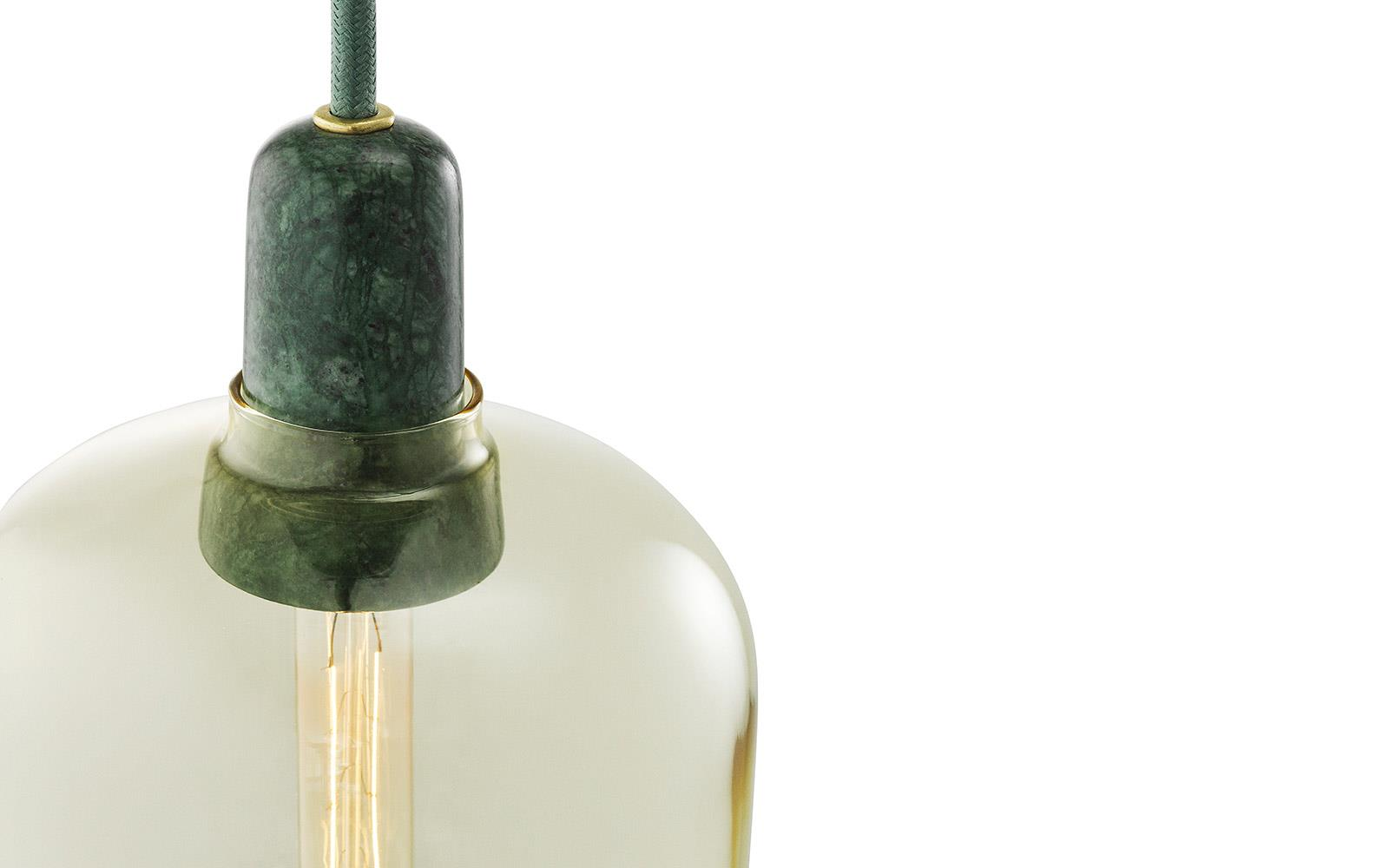 Amp lamp Gold/ Green S