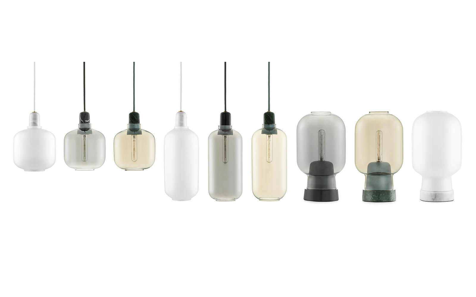 Amp table lamp white/white
