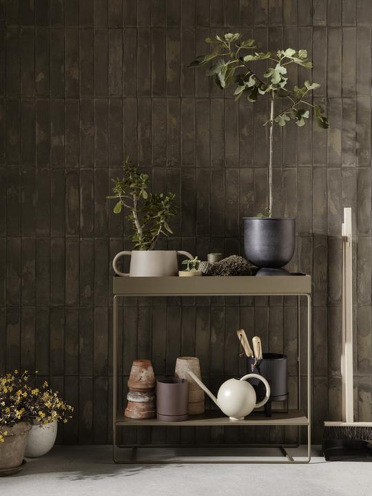 Plant Box Two-Tier Olive
